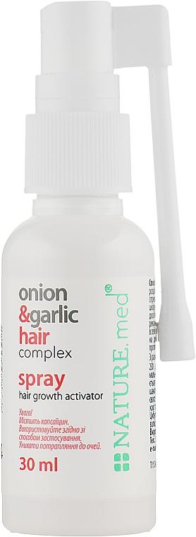 """Спрей """"Луково-чесночный комплекс для волос. Активатор роста волос"""" - NATURE.med Onion & Garlic Hair Complex Spray"""