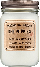 Духи, Парфюмерия, косметика Kobo Broad St. Brand Red Poppies - Ароматическая свеча