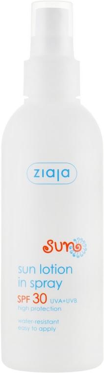 Водостойкий лосьон для загара SPF 30 - Ziaja