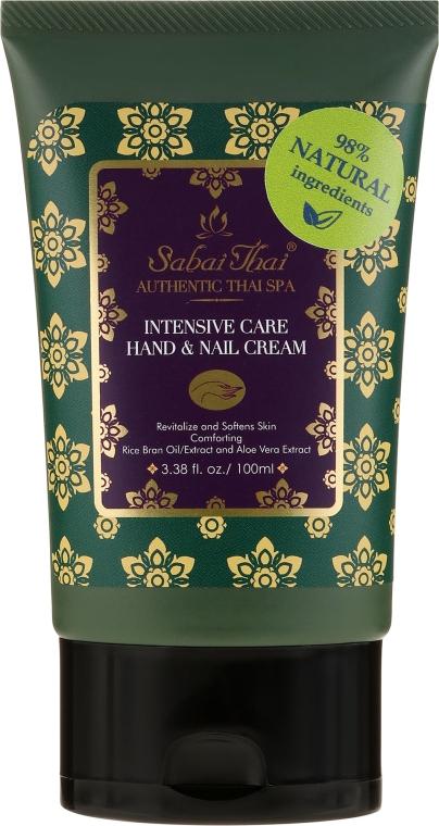 Крем для рук и ногтей с маслом рисовых отрубей и алоэ вера - Sabai Thai Intensive Care Rice Milk Hand & Nail Cream