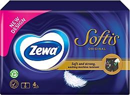 Духи, Парфюмерия, косметика Носовые платки 4-слойные, фиолетовая упаковка, 60 штук - Zewa Softis