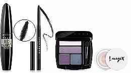 Духи, Парфюмерия, косметика Набор - Avon Moonlit Mauve (mascara/10ml+eyeshadow/5g+primer/5g+eyeliner/0.28g)