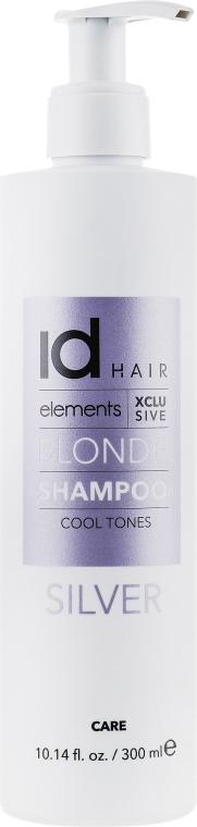 Шампунь для осветленных и блондированных волос - idHair Elements XCLS Blonde Silver Shampoo