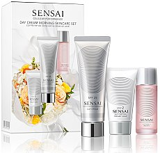 Парфумерія, косметика Набір - Kanebo Cellular Performance Day Cream Morning Skincare Set (soap/30ml + lot/20ml + cr/50ml)