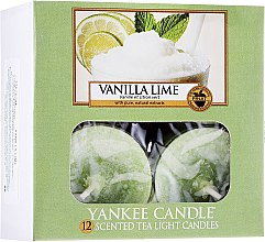 Духи, Парфюмерия, косметика Чайные свечи - Yankee Candle Scented Tea Light Candles Vanilla Lime