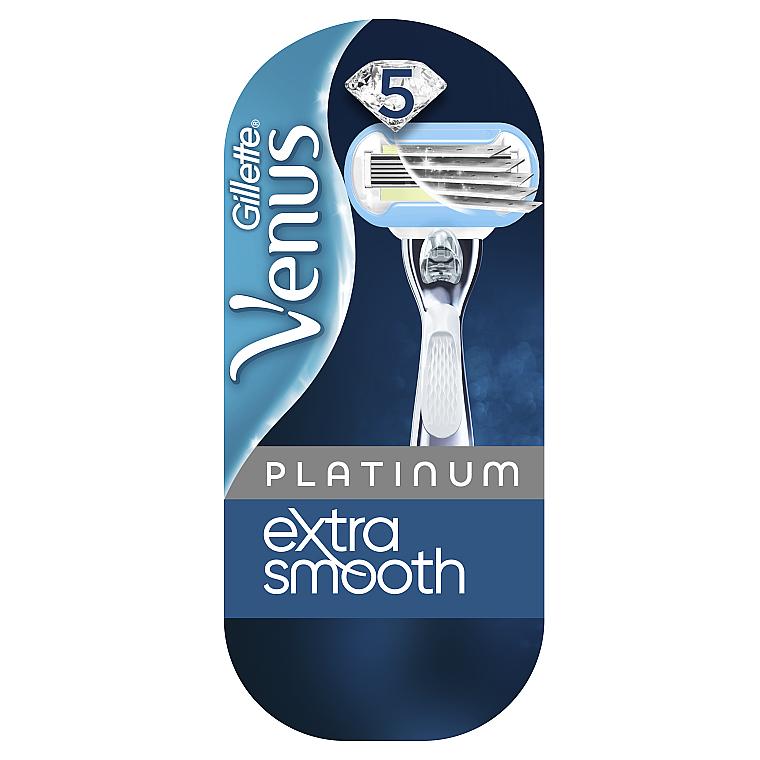 Бритва с 1 сменной кассетой - Gillette Venus Platinum Extra Smooth