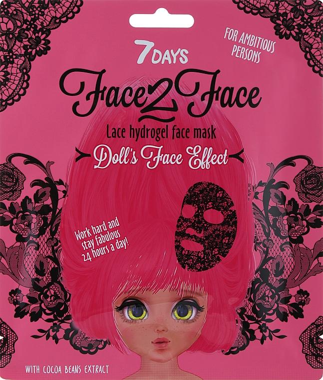 """Кружевная"" гидрогелевая маска для лица с экстрактом какао-бобов - 7 Days Face2Face Lace Hydrogel Mask Cocoa Beans"
