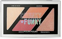 Духи, Парфюмерия, косметика Палетка румян и хайлайтеров для век - Holika Holika Chunky Funky So Funk Multi Blusher Palette