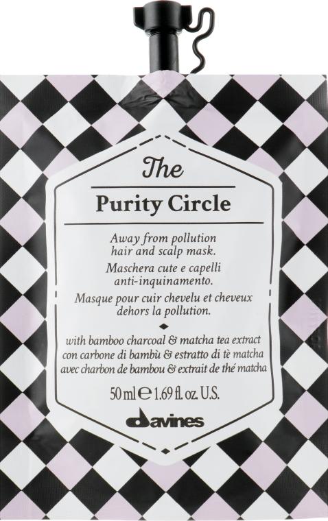 Очищающая детоксицирующая маска для волос и кожи головы - Davines The Circle Chronicles The Purity Circle