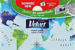 Духи, Парфюмерия, косметика Универсальные салфетки, 3 слоя, 50 шт, синяя упаковка - Velvet Travel Pack