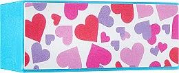Духи, Парфюмерия, косметика Блок шлифовочный 4-сторонний, белый в сердечки - Avenir Cosmetics Podium Profesional