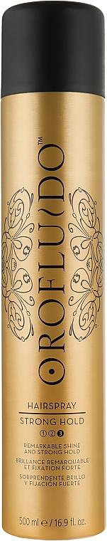 Лак для волос сильной фиксации - Orofluido Styling Strong Hold Hair Spray 3