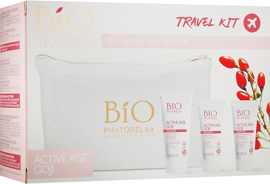 Набор - Phytorelax Laboratories Bio Active Age Goji (f/milk/40ml + cr/20ml + cr/20ml + bag)
