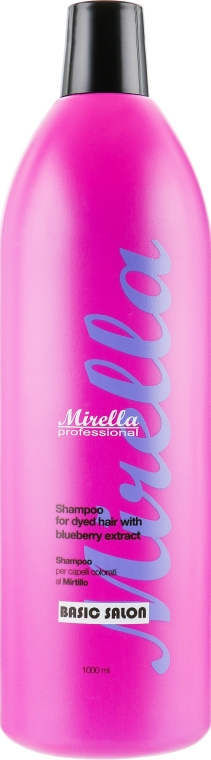Шампунь для окрашенных волос с экстрактом черники - Mirella Professional Shampoo with Blueberry Extract