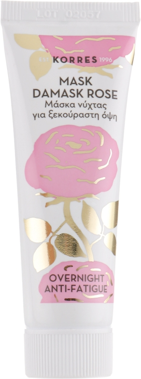 Ночная маска от усталости с дамасской розой - Korres Damask Rose Overnight Treatment For Refreshed Skin