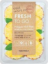 Духи, Парфюмерия, косметика Освежающая тканевая маска с ананасом - Tony Moly Fresh To Go Mask Sheet Pineapple