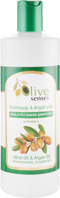 Шампунь для сухих волос c оливковым и аргановым маслом - Selesta Senses Olive Oil & Argan Oil Shampoo