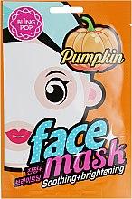 Маска для лица с экстрактом тыквы - Bling Pop Pumpkin Smoothing & Brightening Mask — фото N1