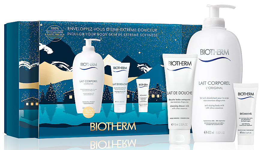 Набор - Biotherm Lait Corporel (b/milk/400ml+milk/75ml+h/cr/20ml)