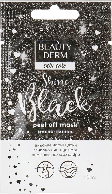 Маска-пленка для лица - Beauty Derm Skin Care Shine Black Peel-off Mask