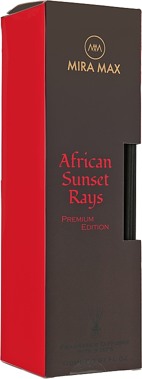 Аромадиффузор + тестер - Mira Max African Sunset Rays Fragrance Diffuser With Reeds Premium Edition