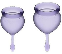 Духи, Парфюмерия, косметика Набор менструальных чаш, фиолетовый - Satisfyer Feel Good Menstrual Cup Lila