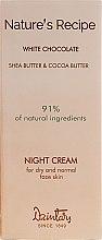 "Духи, Парфюмерия, косметика Ночной крем ""Белый шоколад"" для сухой и нормальной кожи лица - Dzintars Nature`s Recipe White Chocolate Night Cream"