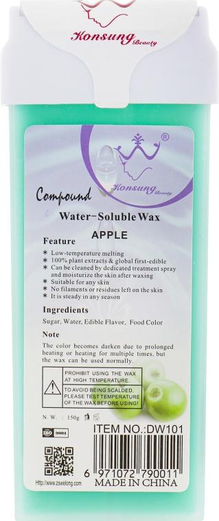 """Воск для депиляции в картридже """"Яблоко"""" - Konsung Beauty Apple Water Soluble Wax"""