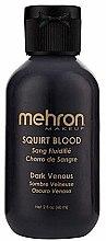 Духи, Парфюмерия, косметика Кровь для брызг - Mehron Squirt Blood Dark Venous