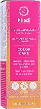 Духи, Парфюмерия, косметика Аюрведическое масло для волос - Khadi Ayurvedic Color Care Hair Oil