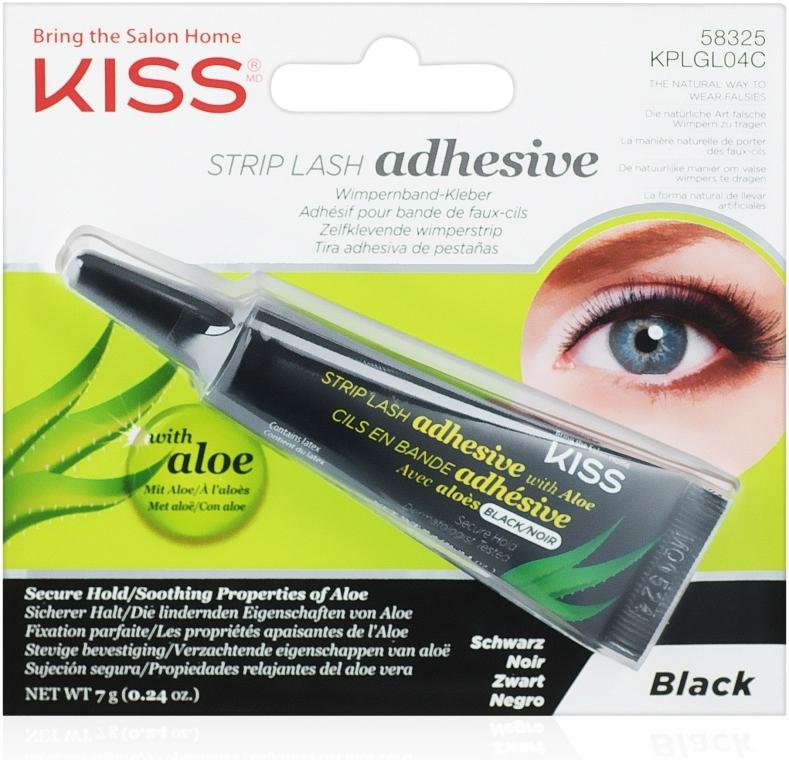 Клей для накладных ресниц с алоэ - Kiss Strip Lash Adhesive Black