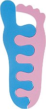Духи, Парфюмерия, косметика Разделители для пальцев 9585, розовые с голубым - SPL