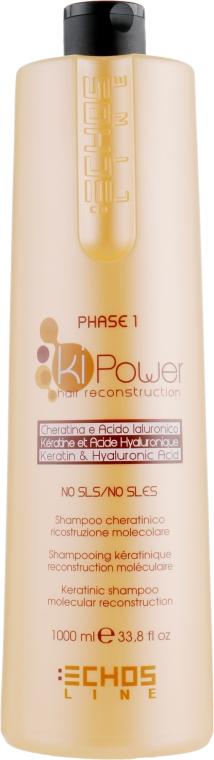 Шампунь для молекулярного восстановления - Echosline Ki Power