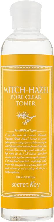 Противовоспалительный очищающий тонер с экстрактом гамамелиса - Secret Key Witch-Hazel Toner
