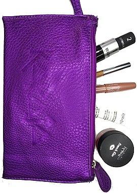 Набор, фиолетовый - Karaja (lip/gloss/10 ml + lip/pencil/1.1 g + cr/8 ml + eyeliner/1.1 g + mascara/9 ml + bag) — фото N1