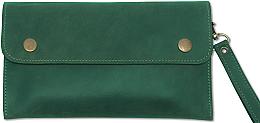 Духи, Парфюмерия, косметика УЦЕНКА Клатч кожаный, зеленый - Bermud *