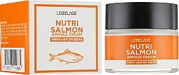 Духи, Парфюмерия, косметика Крем питательный с лососевым маслом - Lebelage Ampule Cream Nutri Salmon