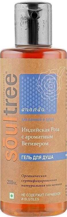 Органический гель для душа с Индийской розой и ароматным Ветивером - Biofarma SoulTree