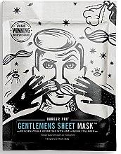 Духи, Парфюмерия, косметика Омолаживающая и увлажняющая маска для лица - BarberPro Gentelmens Sheet Mask