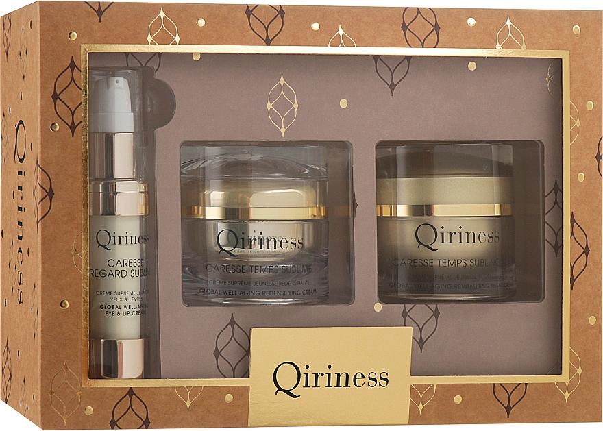 Антивозрастной набор комплексного действия для кожи лица - Qiriness Ultimate Prestige (f/cr/2х50ml + eye/lip/cr/15ml)