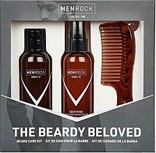 Духи, Парфюмерия, косметика Набор - Men Rock Soothy Beardy Beloved Oak Moss Starter Kit (b/balm/100ml + b/sh/100ml + comb/1pcs)
