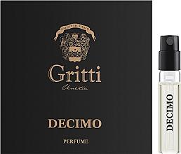 Духи, Парфюмерия, косметика Dr. Gritti Decimo - Парфюмированная вода (пробник)