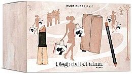 Духи, Парфюмерия, косметика Набор для губ - Diego Dalla Palma Nude Dude Lip Kit (lipstick/3/5g+lip/pencil/1.5g+bag)