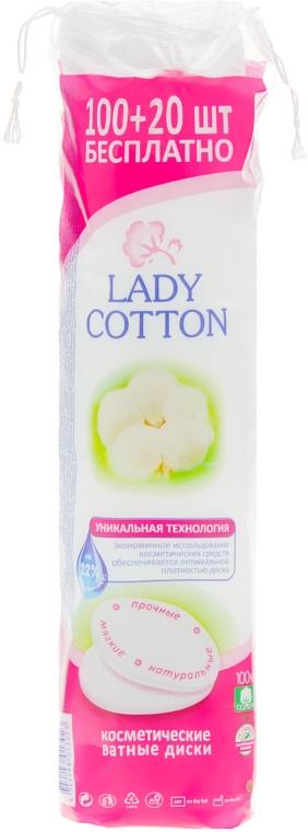 Косметические ватные диски, 100+20 шт - Lady Cotton