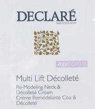 Духи, Парфюмерия, косметика Ремодулирующий крем для шеи и декольте - Declare Age Control Multi Lift Decollete Re-Modeling Neck (пробник)