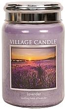 "Духи, Парфюмерия, косметика Ароматическая свеча в банке ""Лаванда"" - Village Candle Lavender"