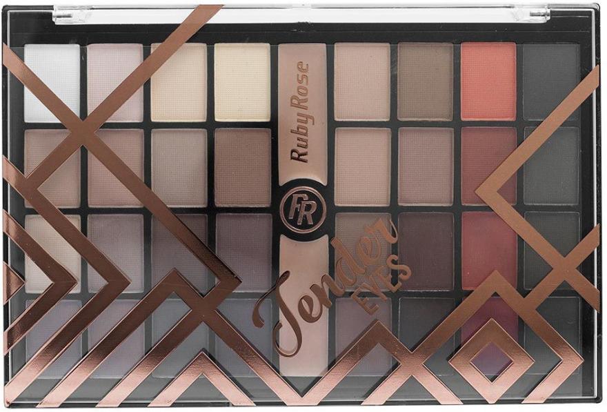 Палетка теней для век, 32 оттенка - Ruby Rose Eyeshadow Palette Matte Tender Eyes