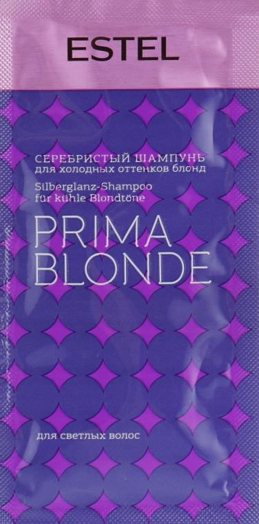Серебристый шампунь для холодных оттенков блонд - Estel Professional Prima Blonde Shampoo (пробник)