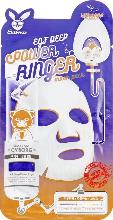 Маска для активной регенерации эпидермиса - Elizavecca Face Care Egf Deep Power Ringer Mask Pack