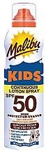 Духи, Парфюмерия, косметика Солнцезащитный водостойкий лосьон для детей - Malibu Sun Kids Continuous Lotion Spray SPF50
